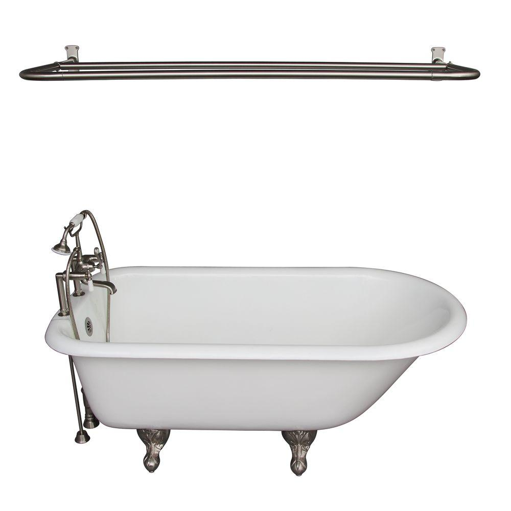 5.6 ft. Cast Iron Ball and Claw Feet Roll Top Tub