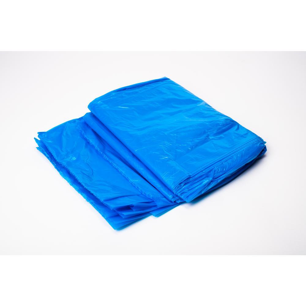 55 Gal To 60 Gal Blue Recycling Bag 100 Ct Hp Rbl55