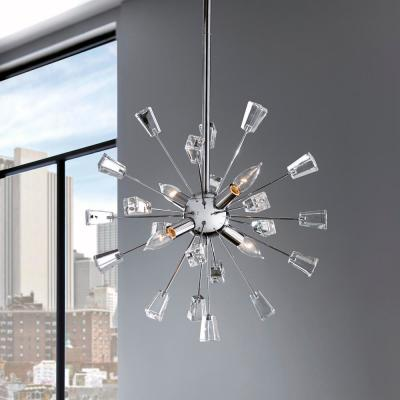 Kimberly 4-Light Crystal and Polished Chrome Sputnik Chandelier