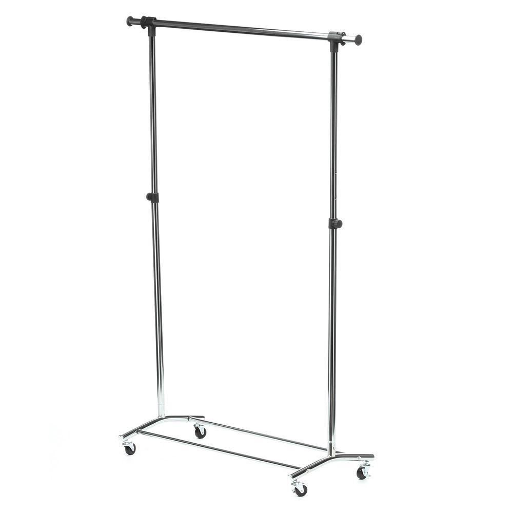56.7 in. x 70.5 in. Deluxe Steel Rolling Garment Rack in