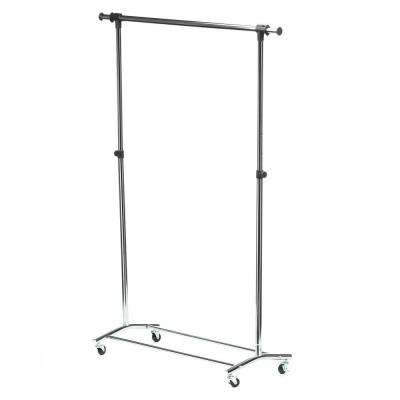 56.7 in. x 70.5 in. Deluxe Steel Rolling Garment Rack in Chrome
