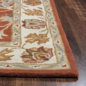 Rizzy Home Valintino Rust Border Hand Tufted Wool 9 ft. x 12 ft. Area Rug by Rizzy Home