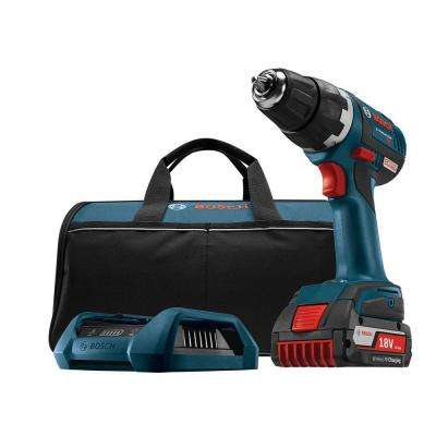 18 Volt Lithium-Ion Cordless 1/2 in. Variable Speed Brushless Compact Tough Drill/Driver Kit