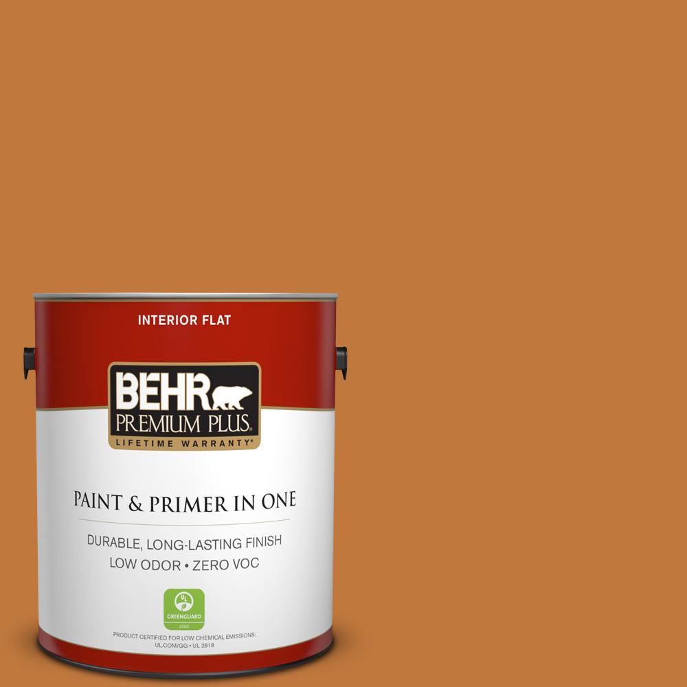 BEHR Premium Plus 1-gal. #270D-7 Fall Leaves Zero VOC Flat Interior Paint