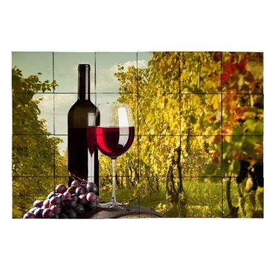 Wine2 36 in. x 24 in. Tumbled Marble Tiles (6 sq. ft. /case)