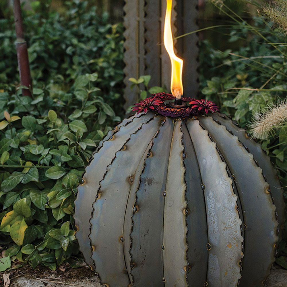 Desert Steel Small Golden Barrel Cactus Torch