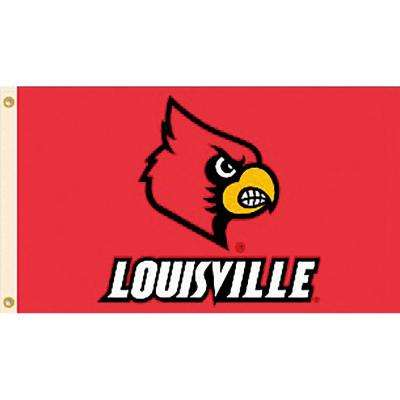 NCAA University of Louisville 3 ft. x 5 ft. Collegiate 2-Sided Flag with Grommets