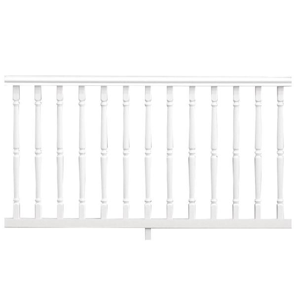 Williamsburg 6 ft. x 36 in. White PolyComposite Rail Kit without Brackets