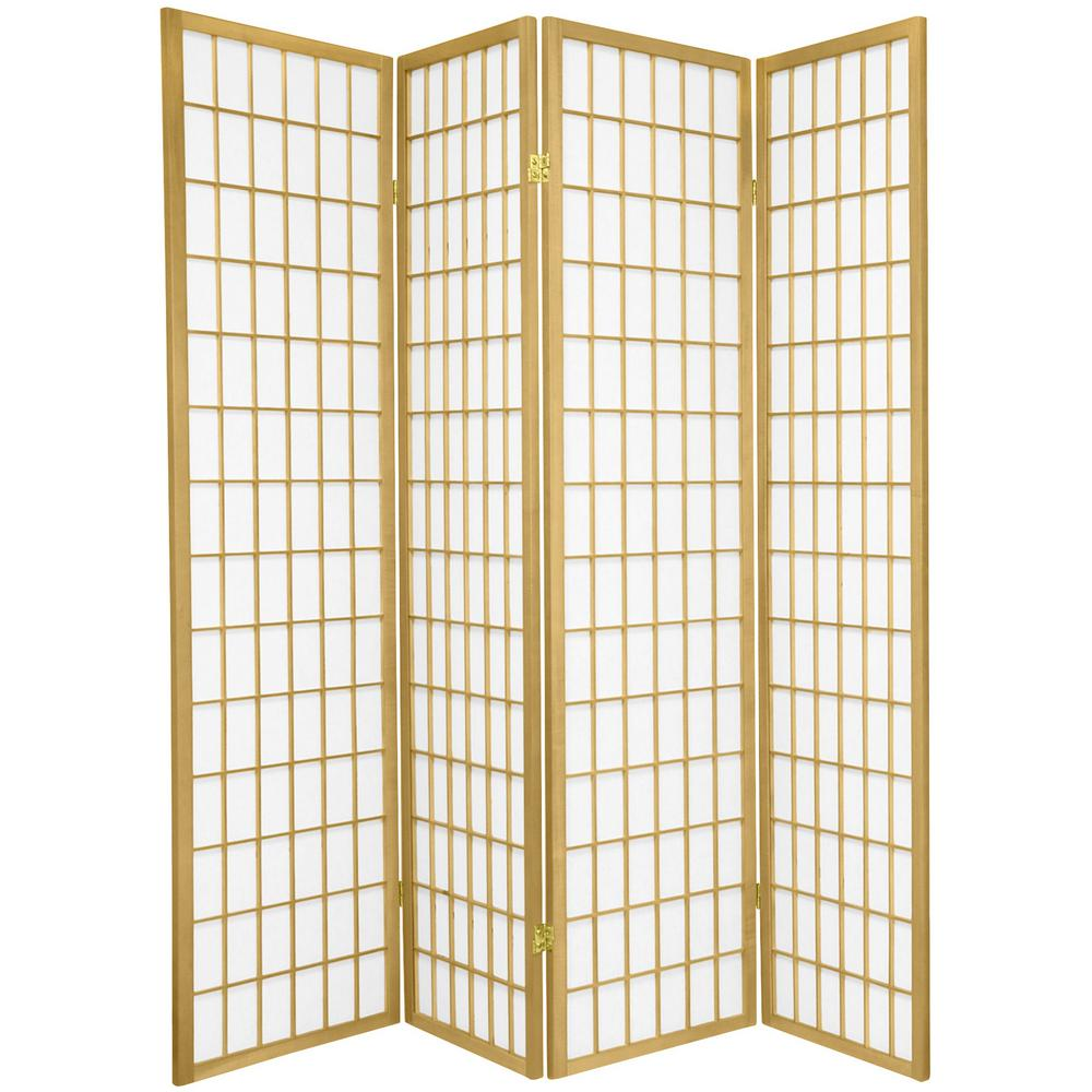 6 ft. Gold Window Pane 4-Panel Room Divider