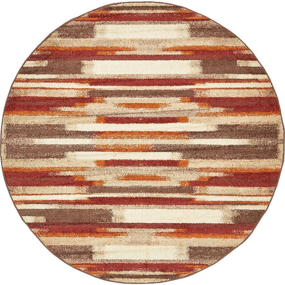 Autumn Wheat Multi 8' 0 x 8' 0 Round Rug