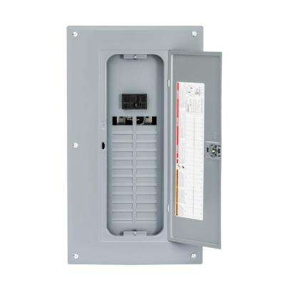 Homeline 125 Amp 24-Space 48-Circuit Indoor Main Breaker Plug-On Neutral Load Center with Cover
