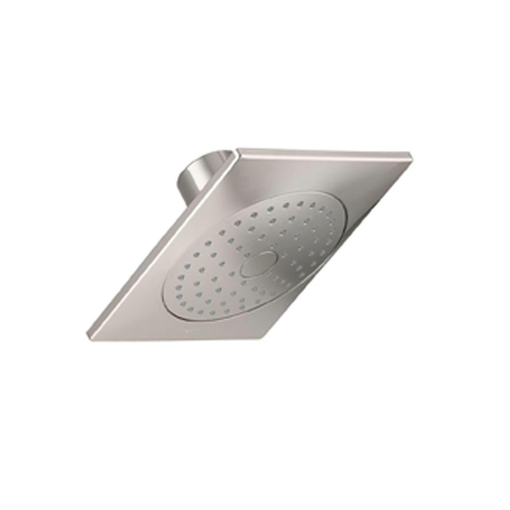 Loure 1-Spray Single Function 6-5/16 in. Raincan Showerhead in Vibrant Polished