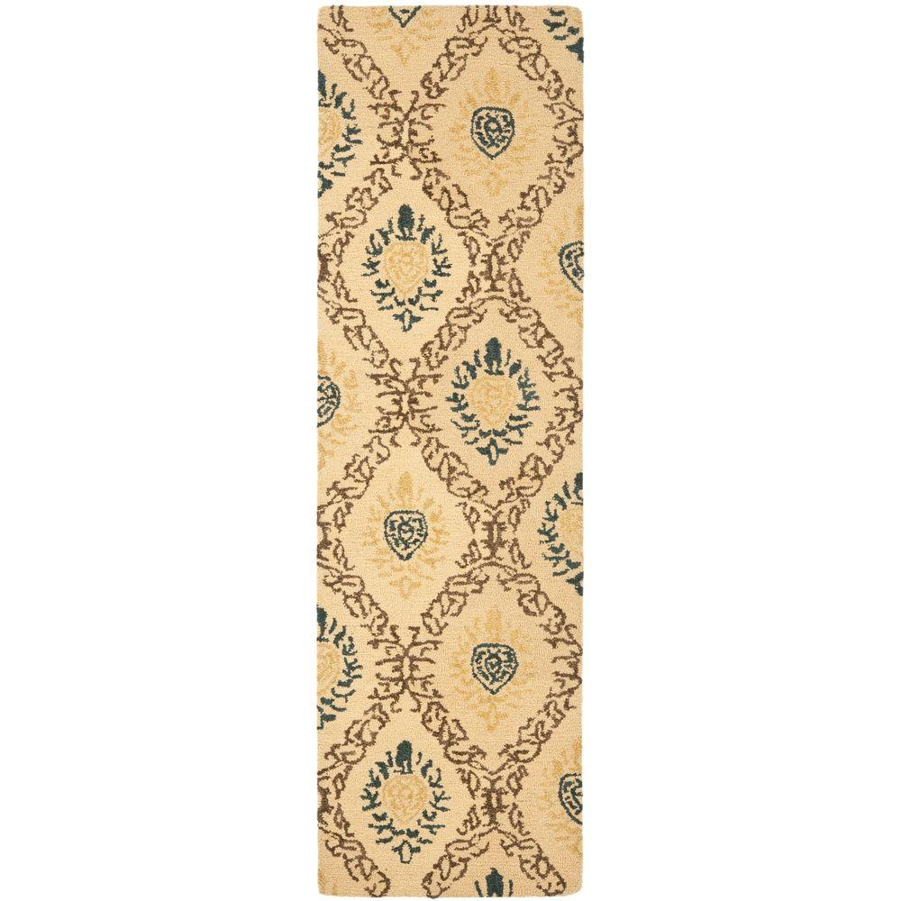 Antiquity Light Gold/Multi 2 ft. 3 in. x 8 ft. Runner