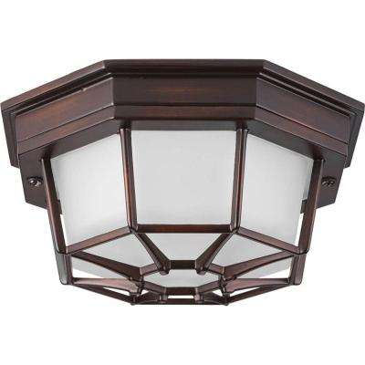 Milford LED Collection 1-Light Antique Bronze LED Outdoor Flushmount