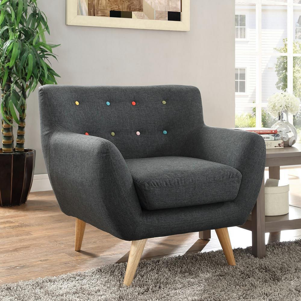 Remark Gray Upholstered Armchair