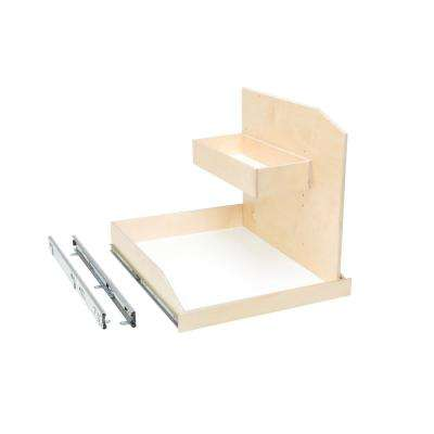 Made-To-Fit Sink Caddy Slide-Out Shelf Full-Extension with Soft Close Choice of Wood Front