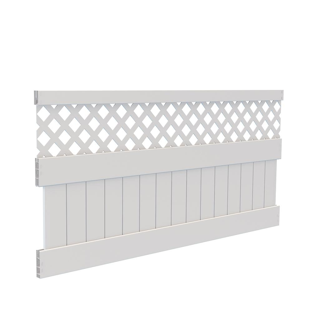 4 ft. H x 8 ft. W White Vinyl Carlsbad Privacy