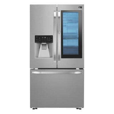 23.5 cu. ft. French Door Refrigerator with InstaView Door-in-Door in Stainless Steel, Counter Depth