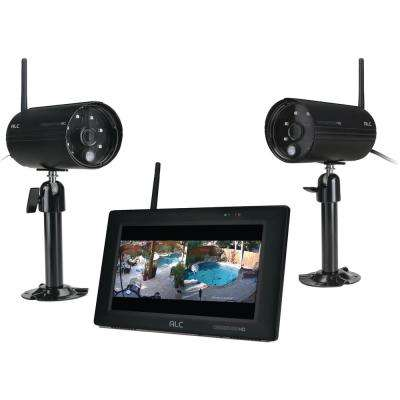 Observer 4-Channel 1080p Wired HD Security Camera Kit with 7 in. Touchscreen Monitor and 2 Wi-Fi Cameras