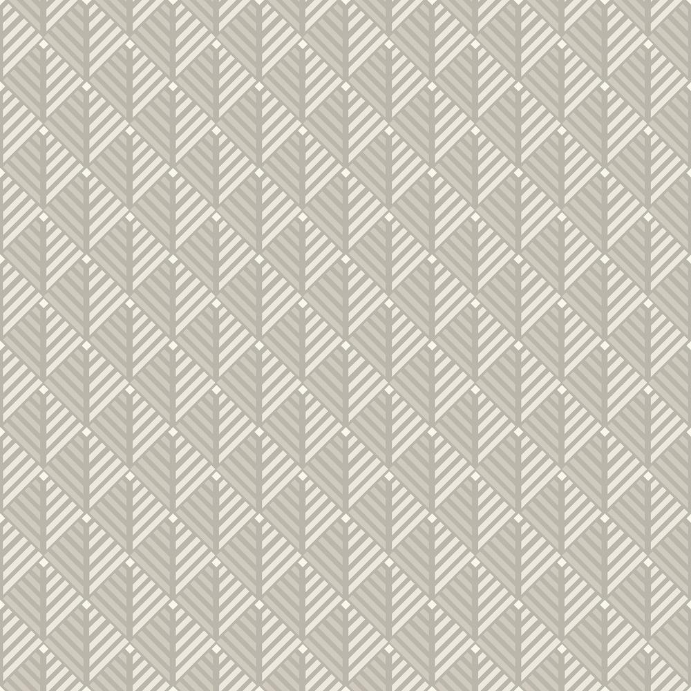 8 in. x 10 in. Opera Platinum Geometric Wallpaper Sample