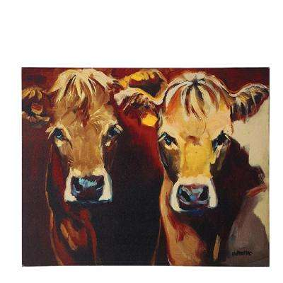"26 in. H x 32 in. W ""Two Cows"" Canvas Wall Art"