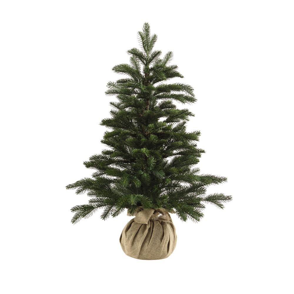 3 ft. Feel Real Norwegian Artificial Christmas Trees in Burlap