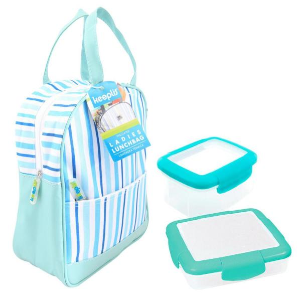 Keeplit Keep& Go 3-Piece Food Storage Container Assorted Pack in Aqua