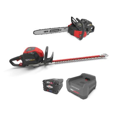 XD 82-Volt MAX Cordless Electric Wood Bundle with Chainsaw, Hedge Trimmer, and (1) 2.0 Battery and (1) Rapid Charger
