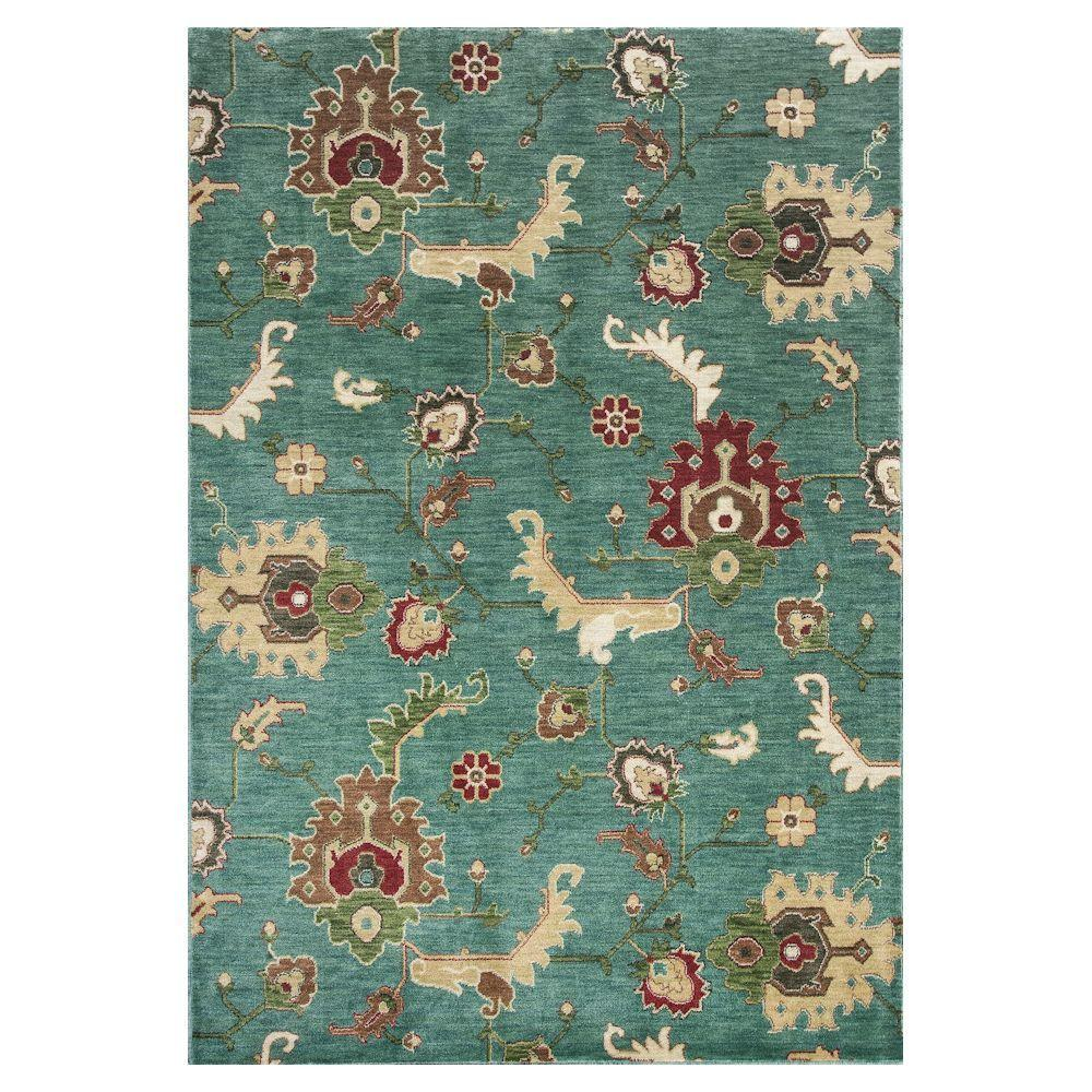 Kas Rugs Modern Oushak Blue 8 ft. x 11 ft. Area Rug Extremely comfortable, the Kas Rugs 8 ft. x 11 ft. Area Rug is the perfect finishing touch to your home. This rectangular rug has a stain-resistant construction and fade-resistant materials. It has an oriental print for a designed piece that never goes out of style. It comes in a blue shade, adding a cooling touch to your room. This rug has a 100% polyester construction, which will resist fading over the years.