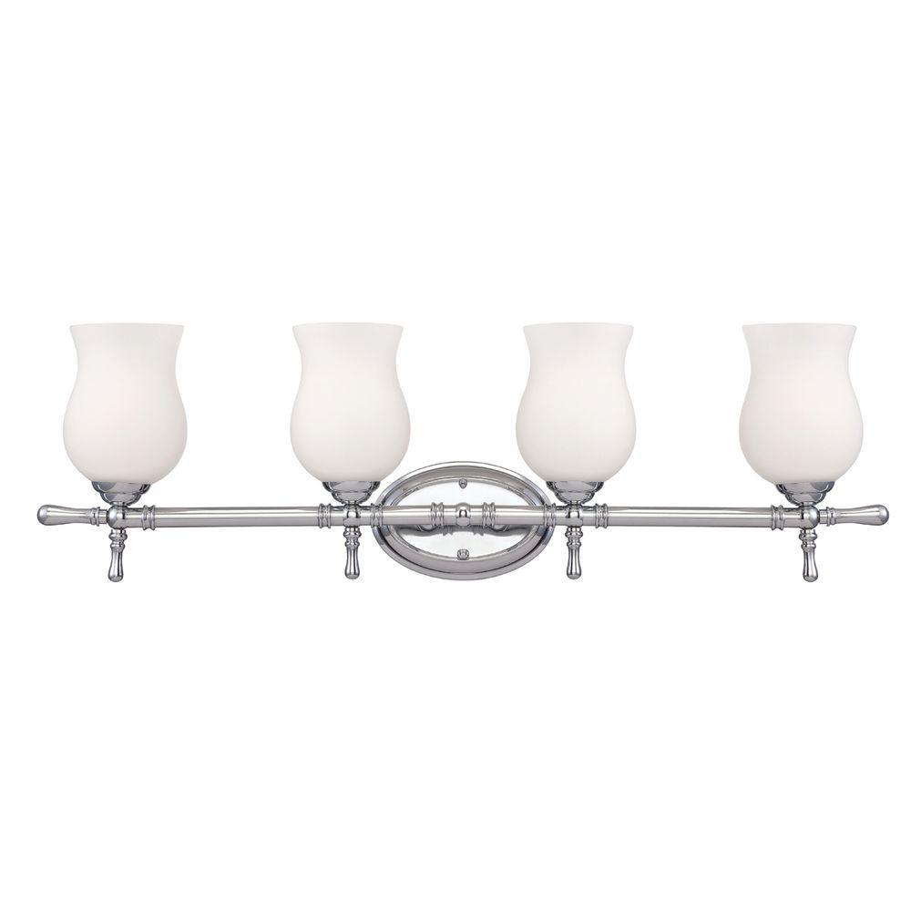 Regency Collection 4-Light Chrome Bath Bar Light