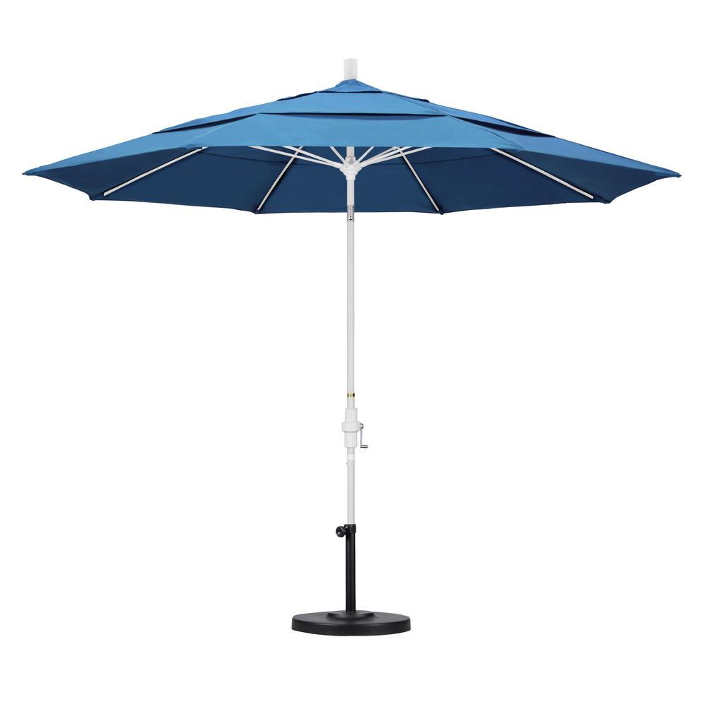 11 ft. Fiberglass Collar Tilt Double Vented Patio Umbrella in Capri Pacifica
