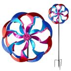 84 in. Spinner Pink and Blue Flower Power
