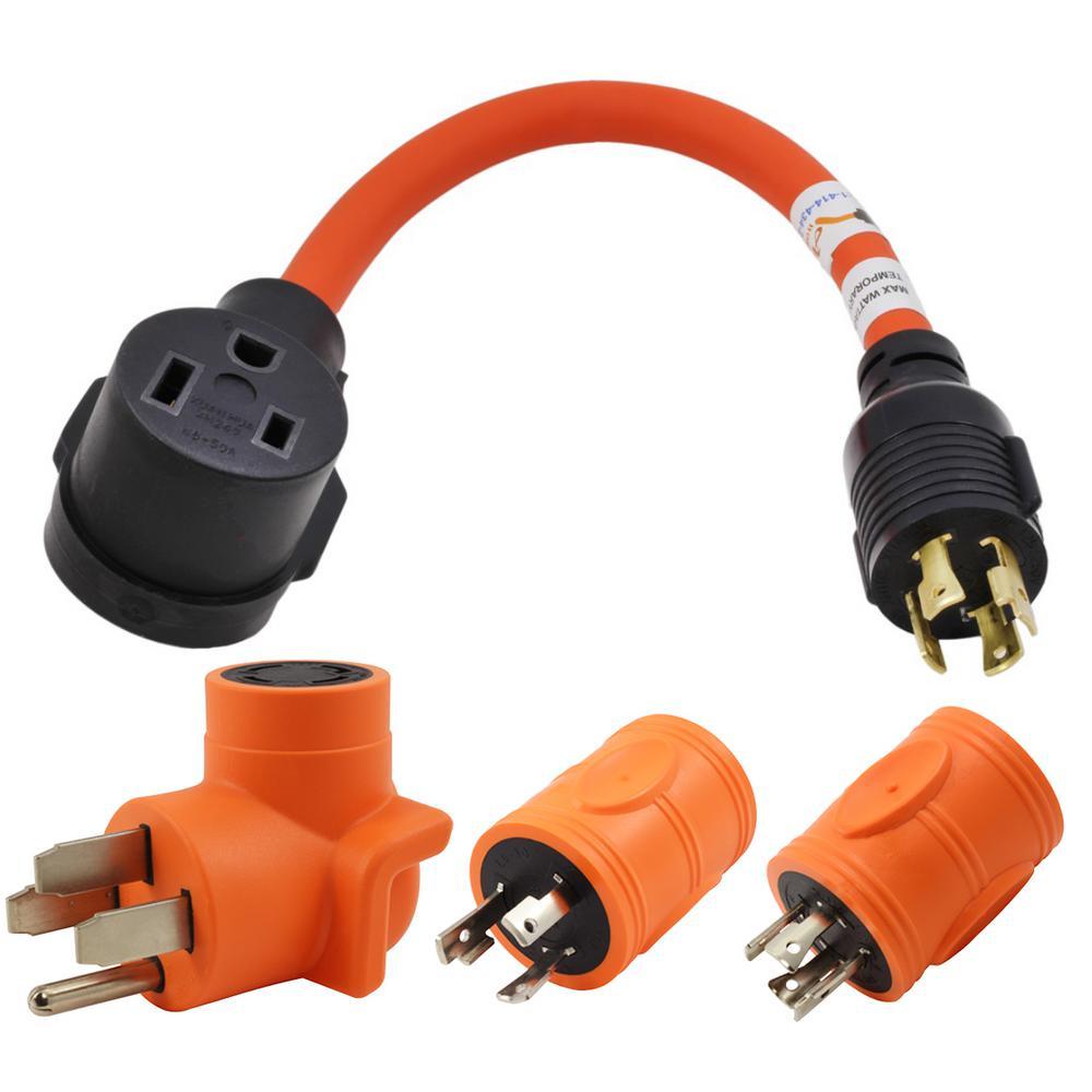 Welder Adapter Kit (14-50 Plug, L6-30, L14-20, L14-30 Locking Plugs to 6-50 Welder)