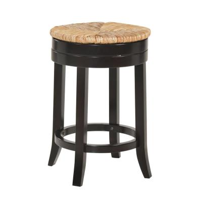 Irving 24 in. Espresso Swivel Counter Stool