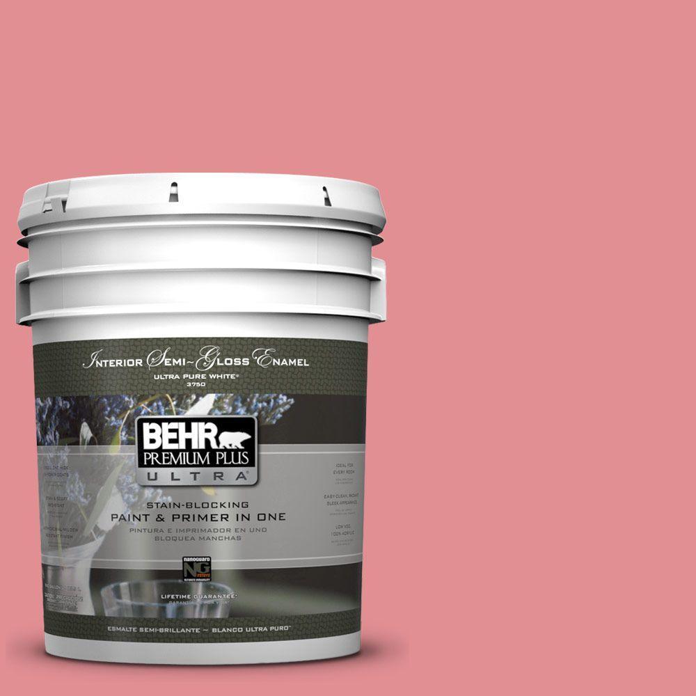 5-gal. #140D-4 Fresh Pink Semi-Gloss Enamel Interior Paint