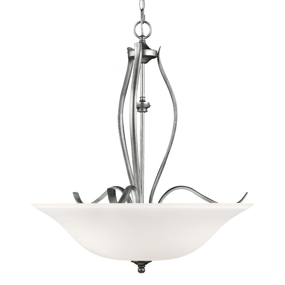 Murray Feiss Standish 3-Light Heritage Silver Pendant