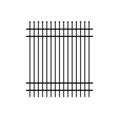 Washington 6 ft. x 6 ft. Black Aluminum Fence Panel (3-Pack)