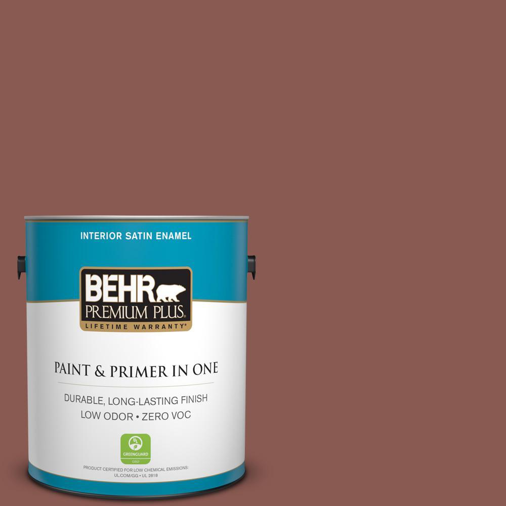 1 gal. #MQ1-20 Rust Satin Enamel Zero VOC Interior Paint and