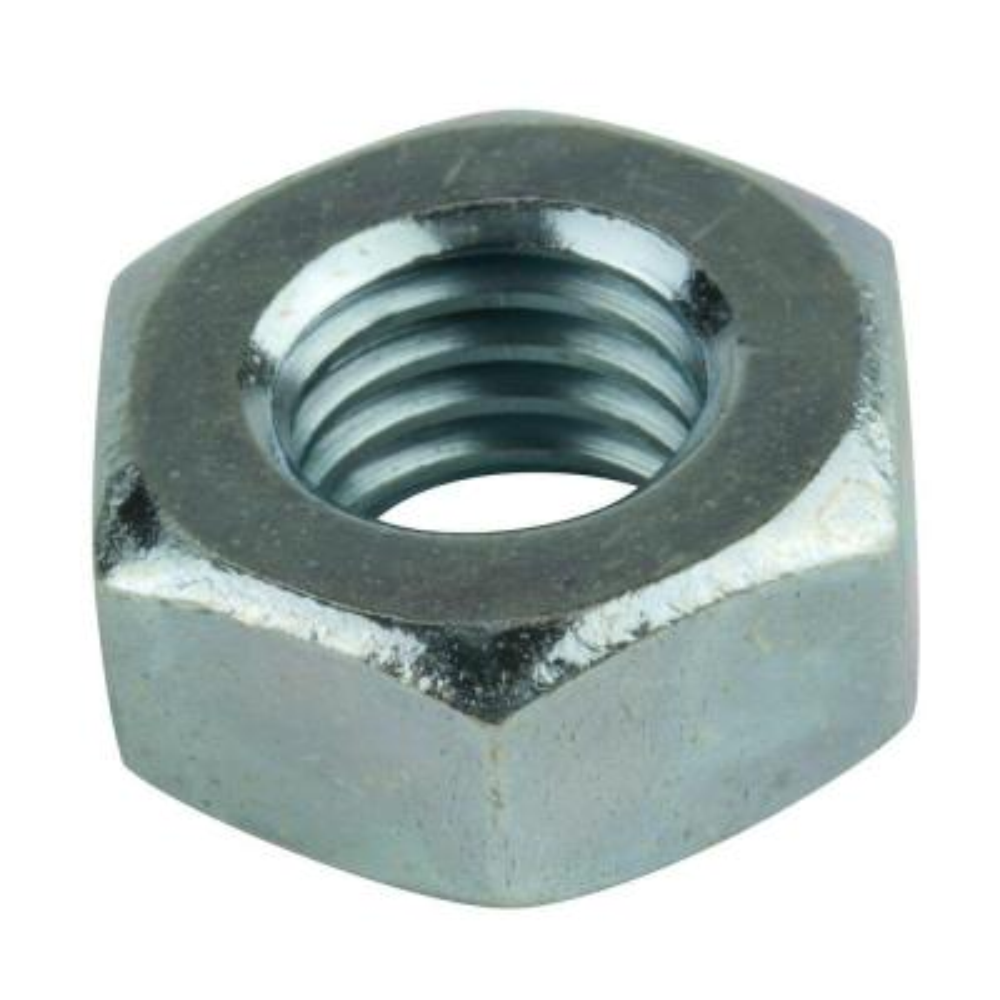M12-1.50 Zinc-Plated Metric Hex Nut