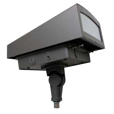 80-Watt Bronze Integrated LED Outdoor Adjustable Flood Light