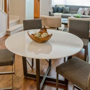 30 Inch Extra White Round Gl Table Top Back Painted 3 8 Thick Flat Edge Polished Tempered Low Iron