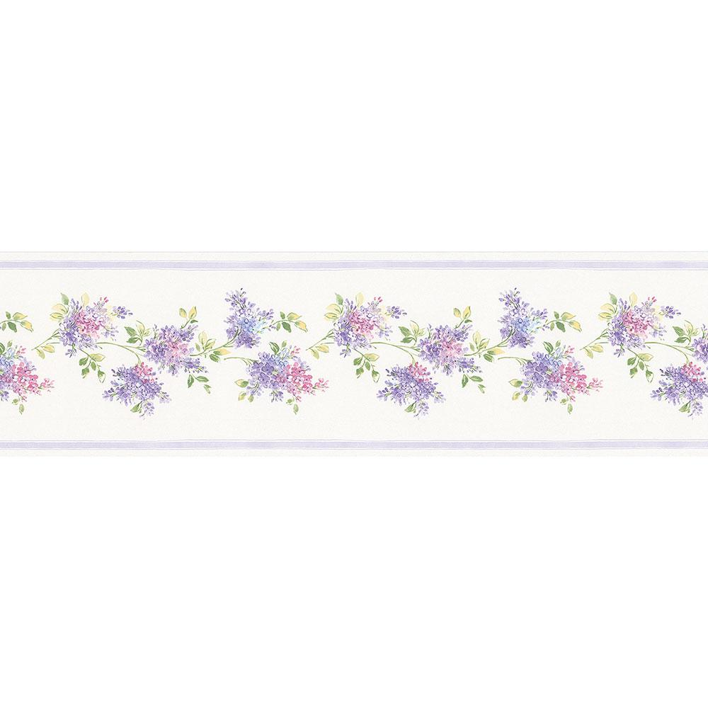Norwall Lilac Wallpaper Border Fk78459 The Home Depot