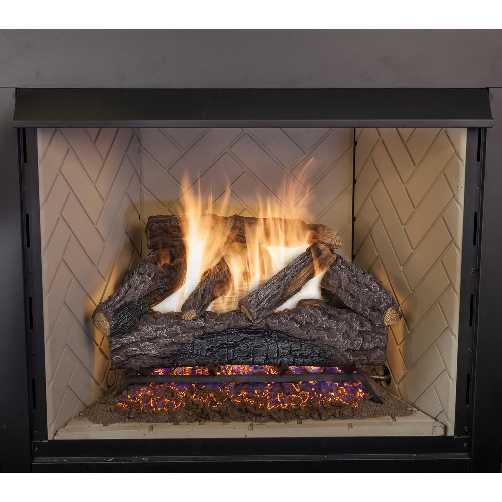 natural gas fireplace wall mount charred river oak vented natural gas fireplace logs set 30 in