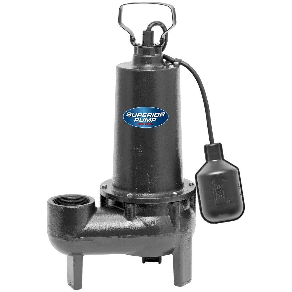 Superior Pump 1/2 HP Submersible Cast Iron Sewage Pump