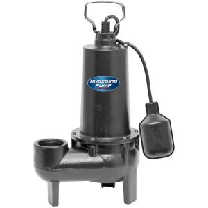 Superior Pump 1/2 HP Submersible Cast Iron Sewage Pump by Superior Pump