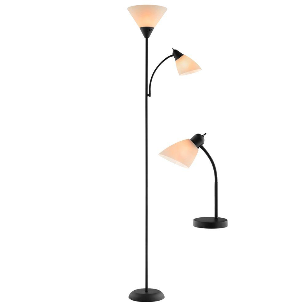 Mother Daughter 2-Piece Glossy Black Desk Lamp T20