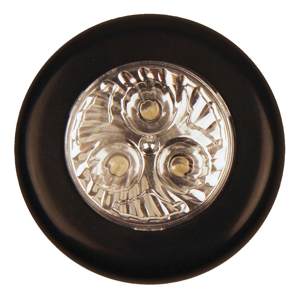 Small Black LED Tap Night Light