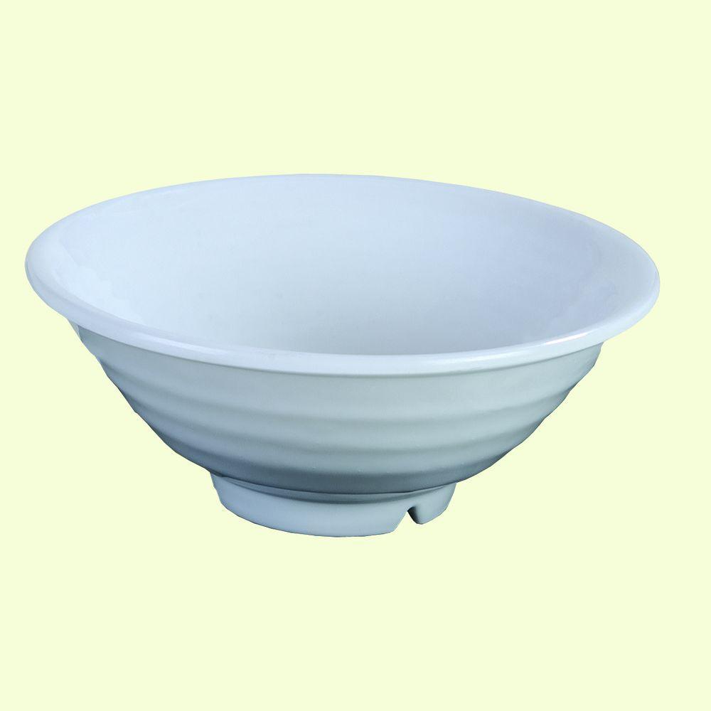 40.50 oz., 8.50 in. Diameter, 3.50 in. H Melamine Bowl in White (Case of 12)