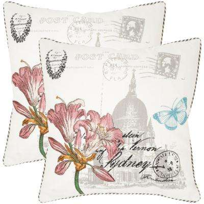 Gloria Embroidered Floral Pillow (2-Pack)