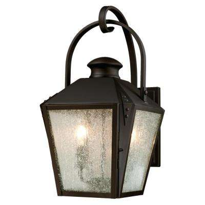 Valley Forge Oil Rubbed Bronze 2-Light Outdoor Wall Mount Lantern